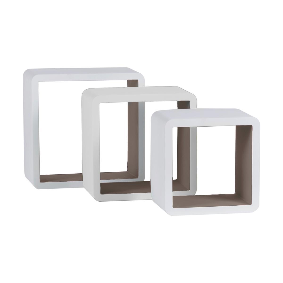 etageres cube plastique blanc