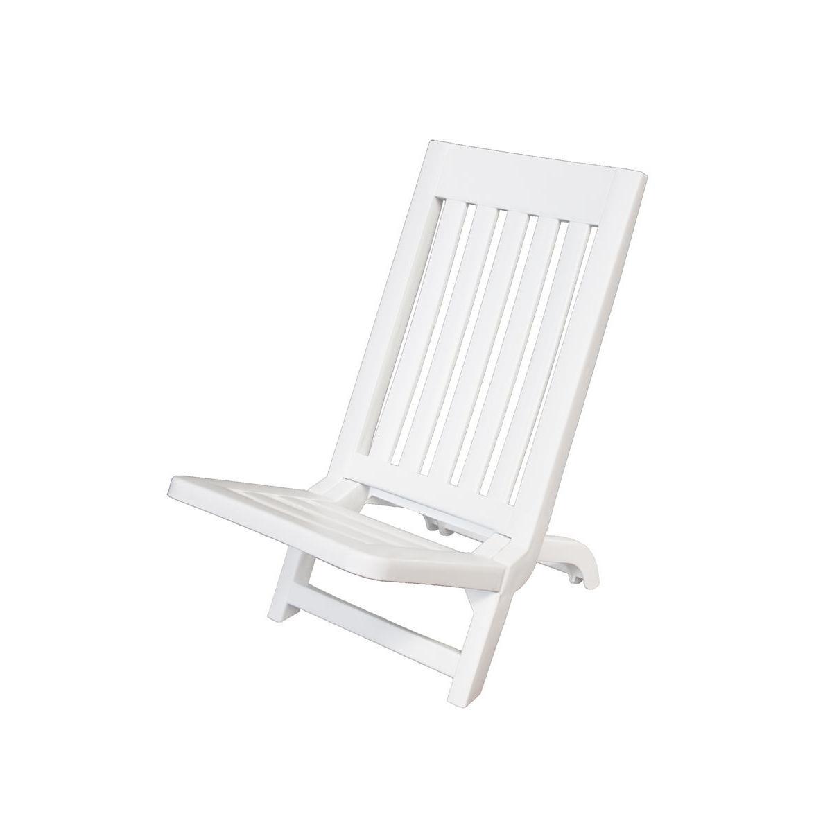 chaise de plage blanc plein air la