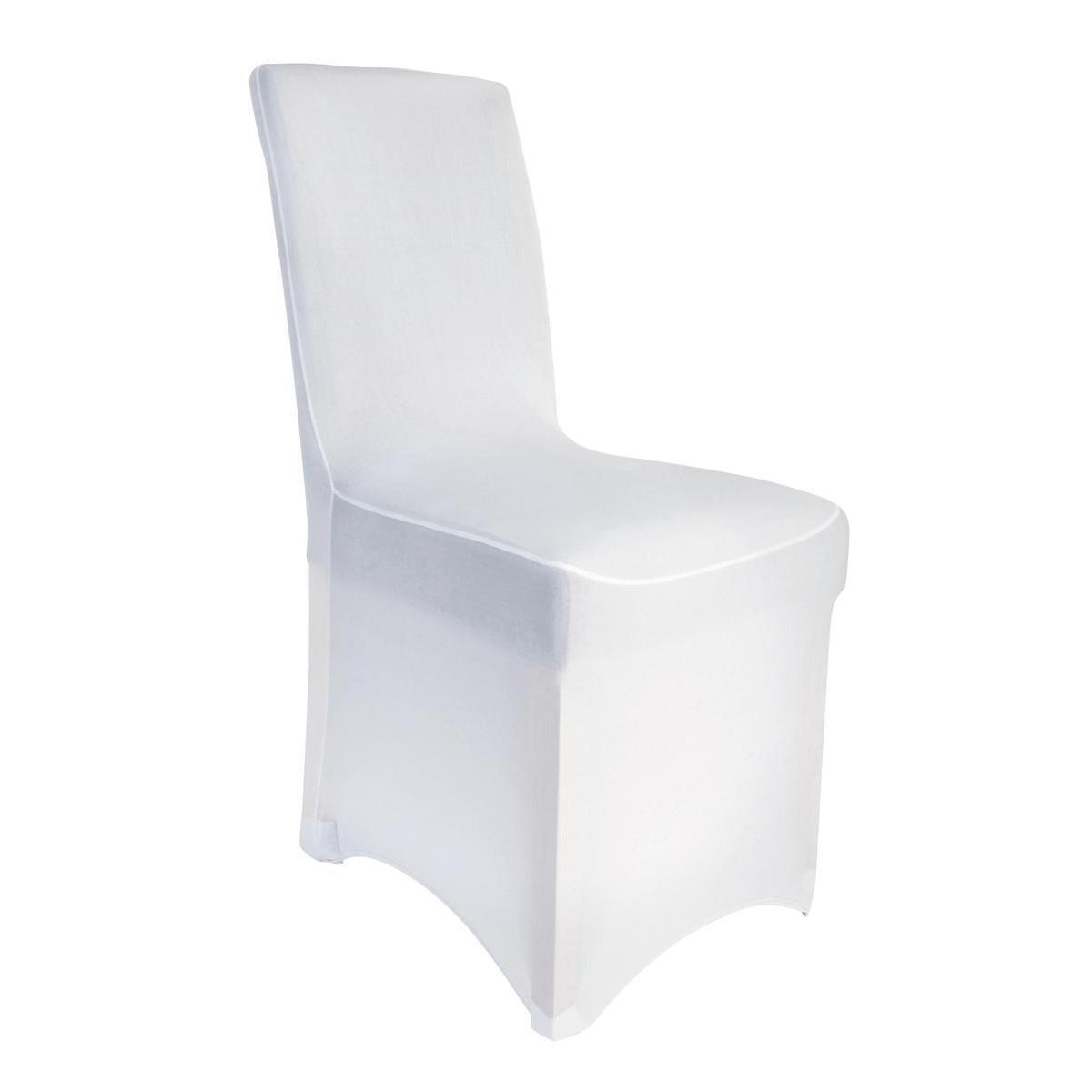 housse de chaise extensible blanc