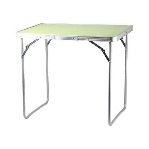 Table Pliante De Camping Aluminium Acier Et Mdf Vert Anis Les Indispensables Des Vacances La Foir Fouille