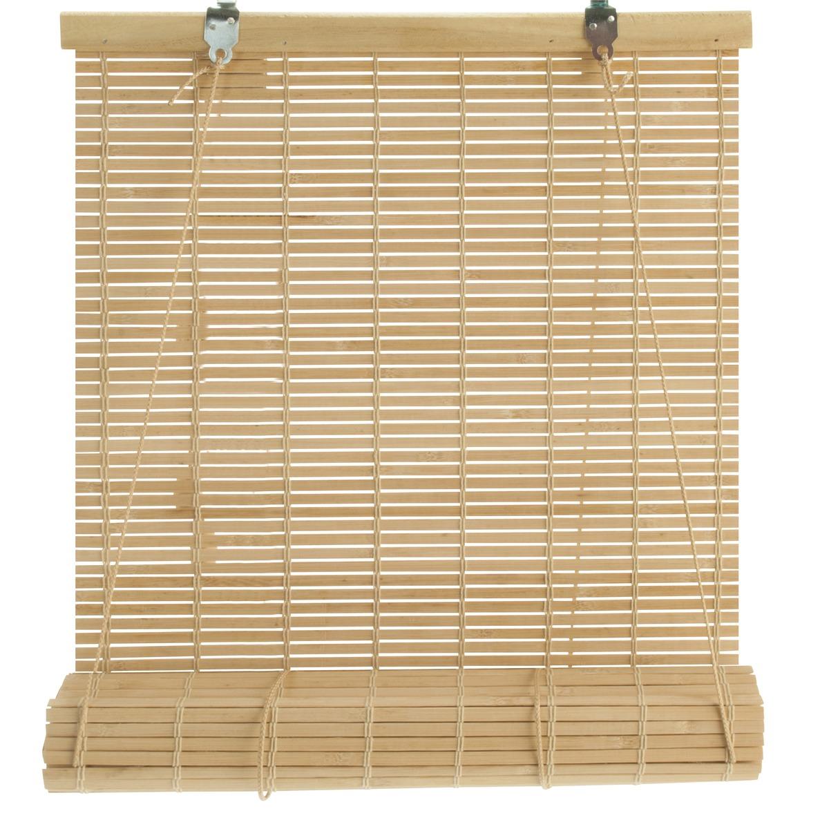 en bambou 40 x 130 cm marron