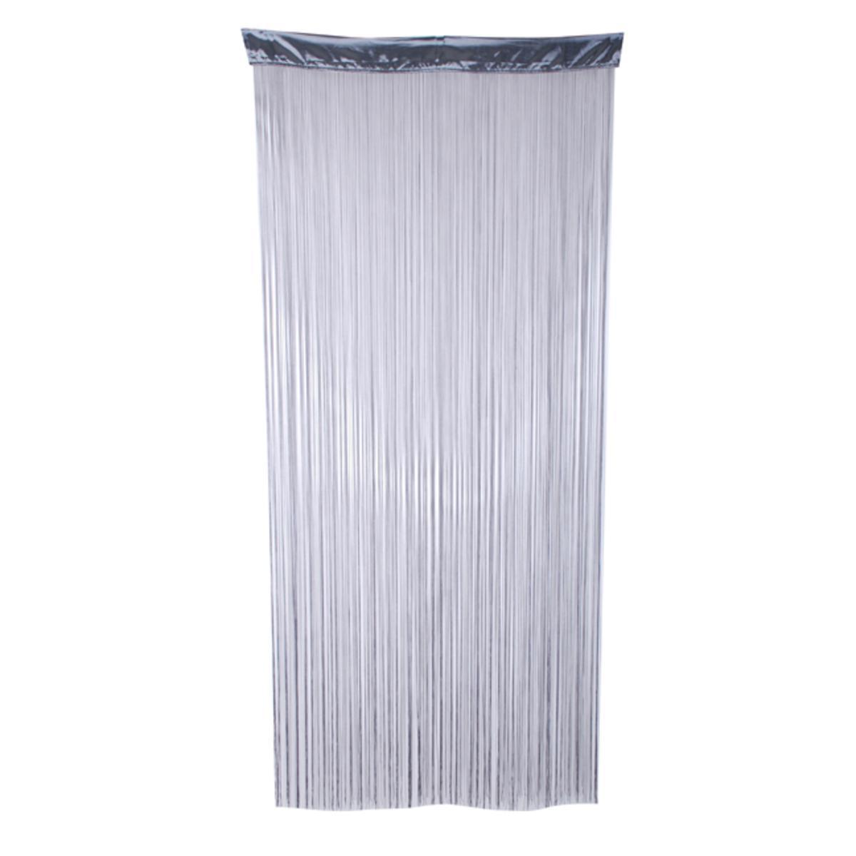 rideau fils polyester gris paire