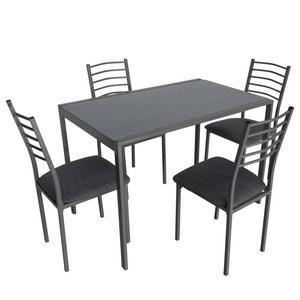 table 4 chaises metal verre