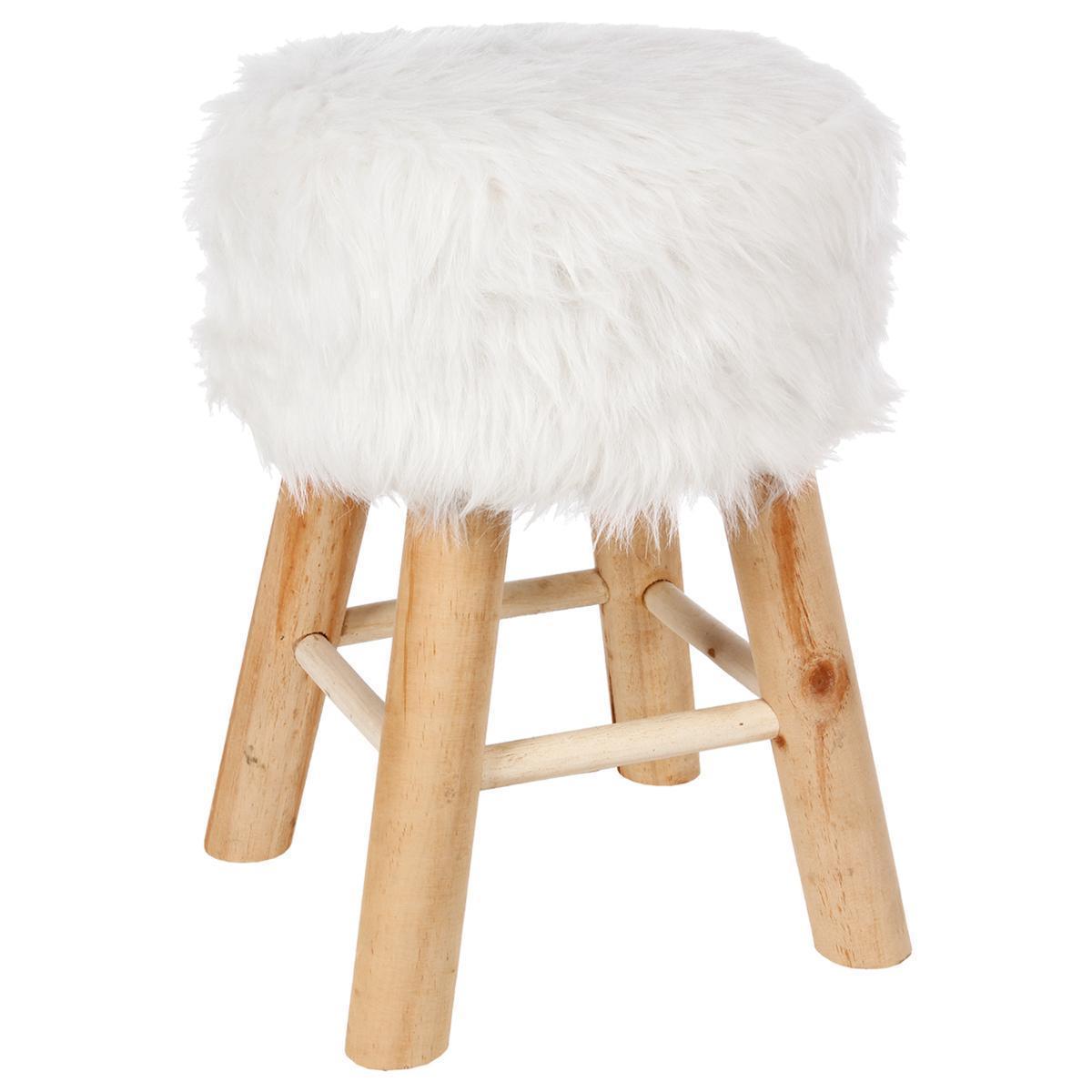 tabouret fourrure meubles de salon