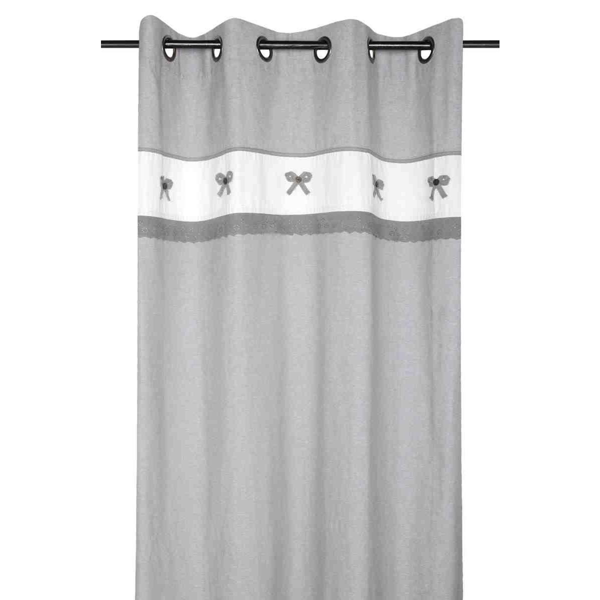 rideau charmelia 140 x 260 cm gris