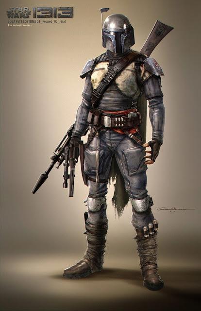 The Mandalorinan está inspirado en el diseño de Boba Fett para Star Wars 1313