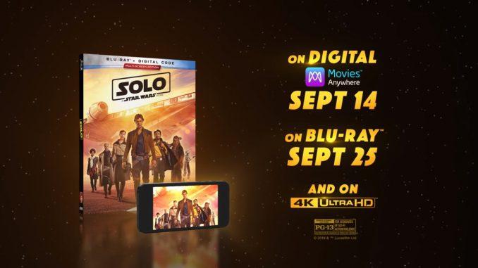 """OFICIAL: """"Han Solo: Una Historia de Star Wars"""" llega el 25 de Septiembre en Blu-Ray"""