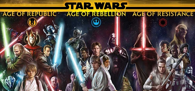 "Marvel presenta la primera imagen promocional de ""Star Wars: Age of Republic/Rebellion/Resistance"""