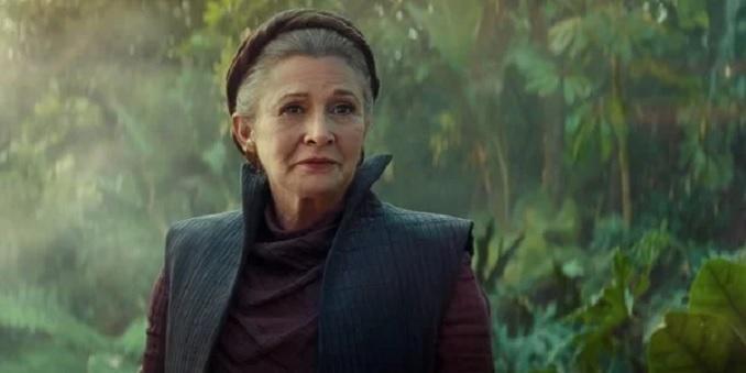 Carrie Fisher Star Wars episodio 9 El Ascenso de Skywalker