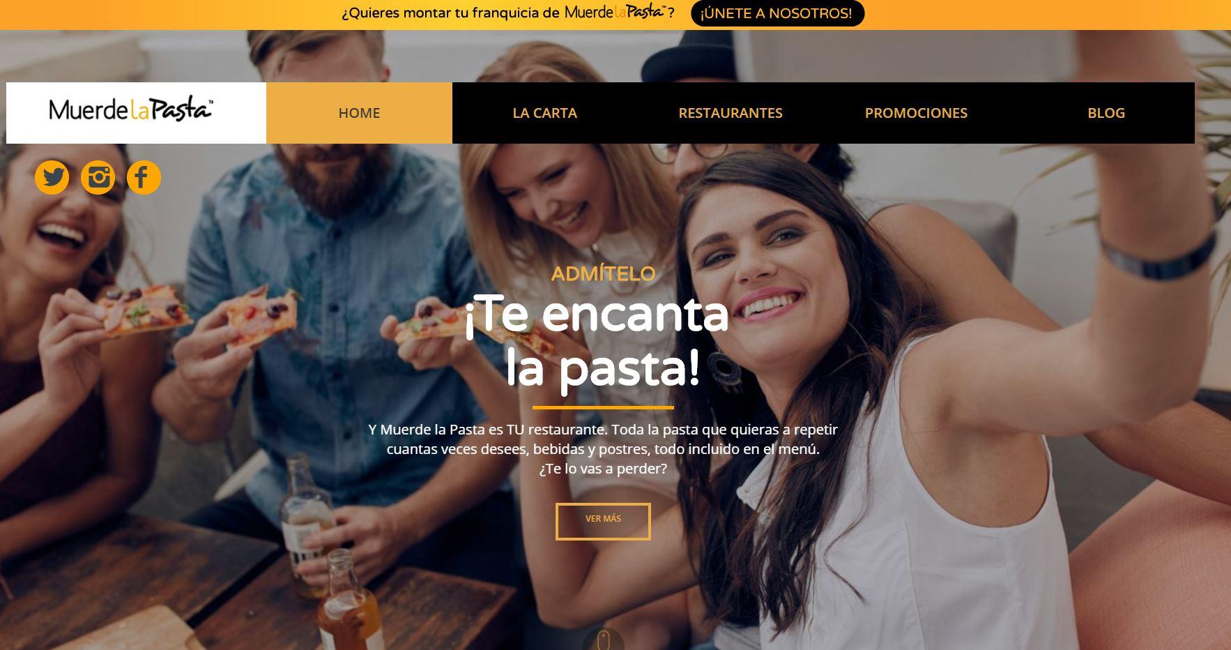 El Grupo Muerde la Pasta presenta su nueva web corporativa