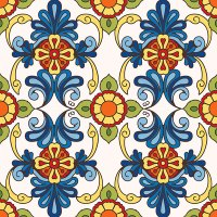Decorative Tile Collection - Floral Ceramic Tile - HDT061