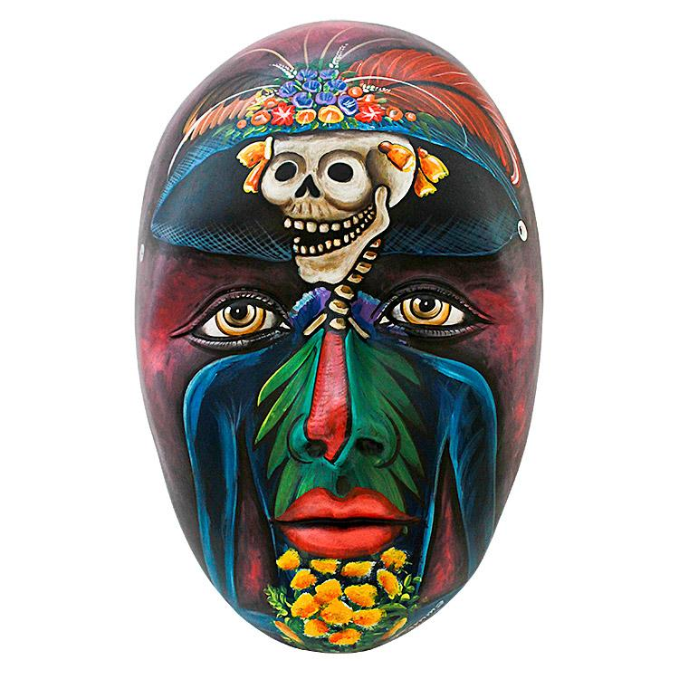 Ceramic Figures Catrina Mask FAM23