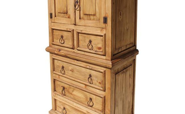 Rustic Pine Collection Tall Tonala Dresser Com27