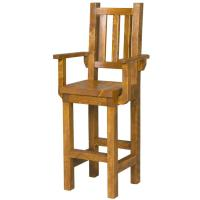 Tables and Seating - Barnwood Pub Chair w/ Arms - BW60