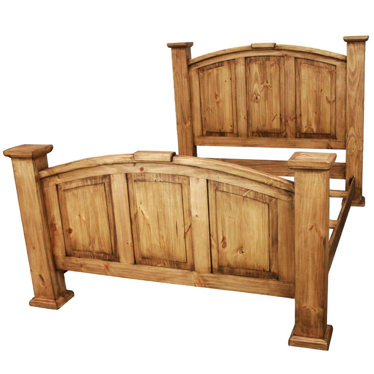 pine king size bed frame mexican pine