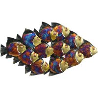 Metal Wall Art Collection - School of Fish with Light - MWA20