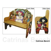 Carved Collection - Day of the Dead Bench - CB230