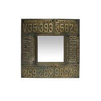 Large Tin Mirrors Collection - Square License Plate Mirror ...