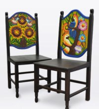 Handmade Mexican Carved Wood Furniture Collection