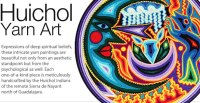 Mexican Folk Art - Huichol Art Yarn Paintings