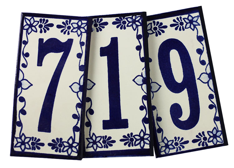 tile house numbers ceramic brick house