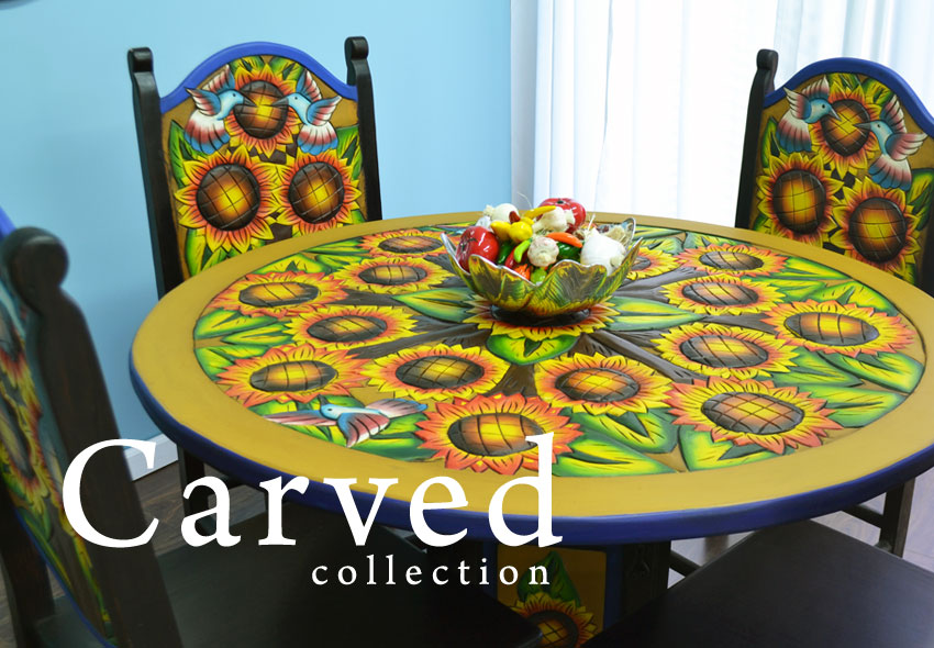 mexican carved wood furniture