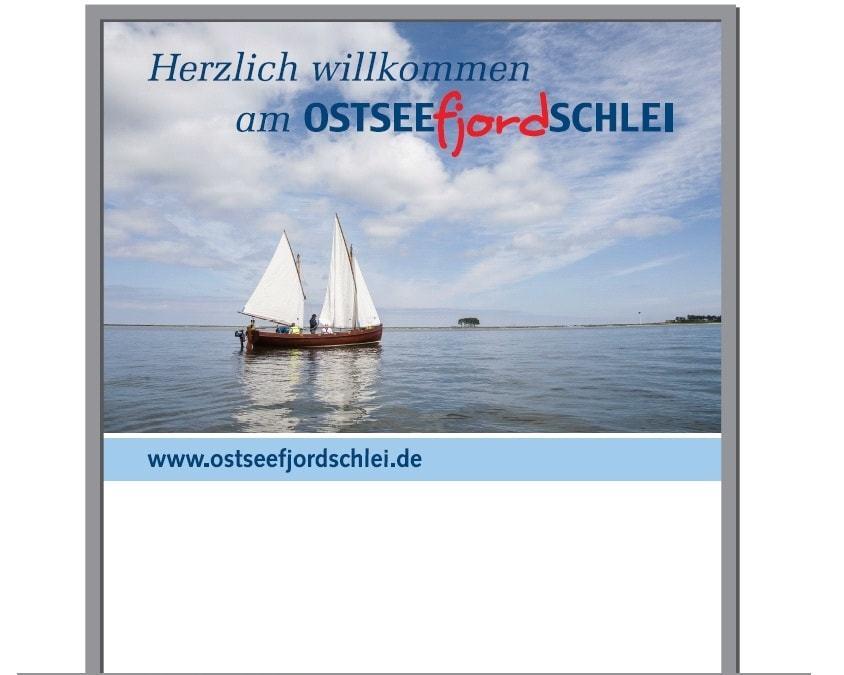 Willkommensschilder in der Region Schlei-Ostsee