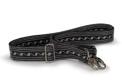 Strap Medium handmade by Laga in Black and Cream embroidery