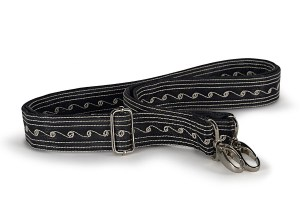 Strap Medium handmade by Laga in Black and Cream embroidery
