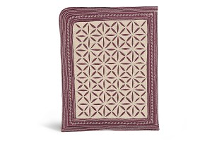 iPad Sleeve BurgundyCream
