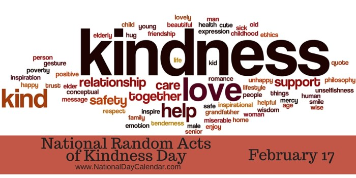 National Random Acts of Kindness Day February