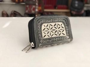 Uang Zip Small wallet black cream