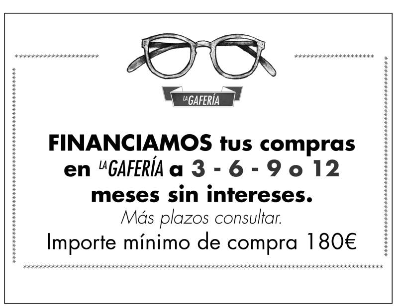 Financiación Gafas - Portada