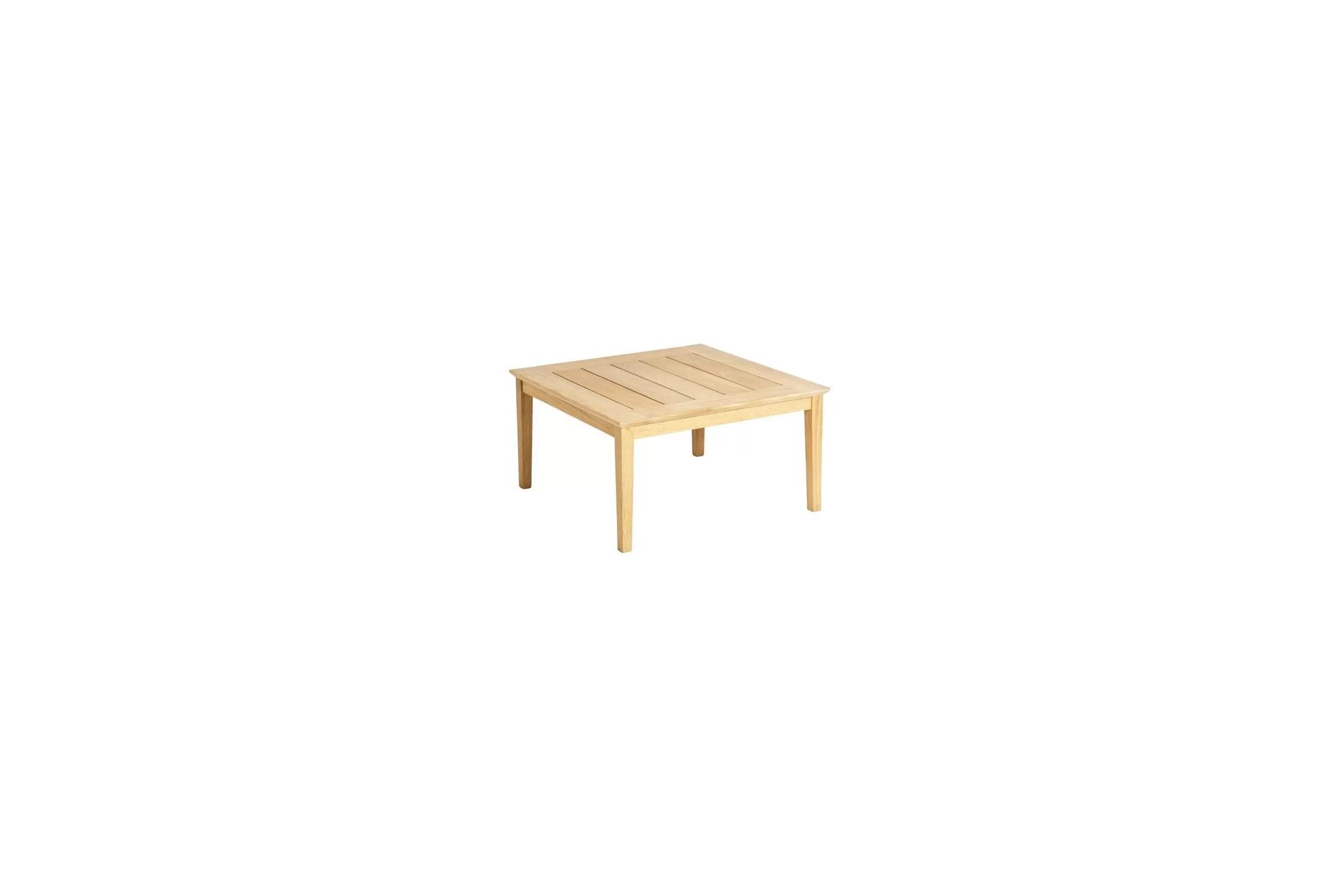 table basse carree 80 cm en bois pour