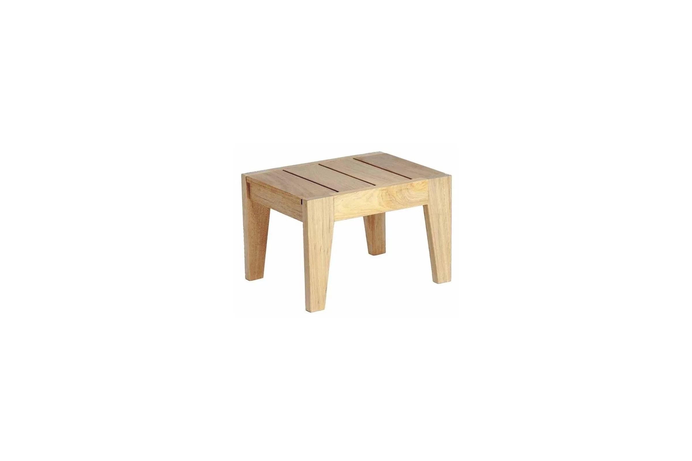 petite table basse en bois pour bain de