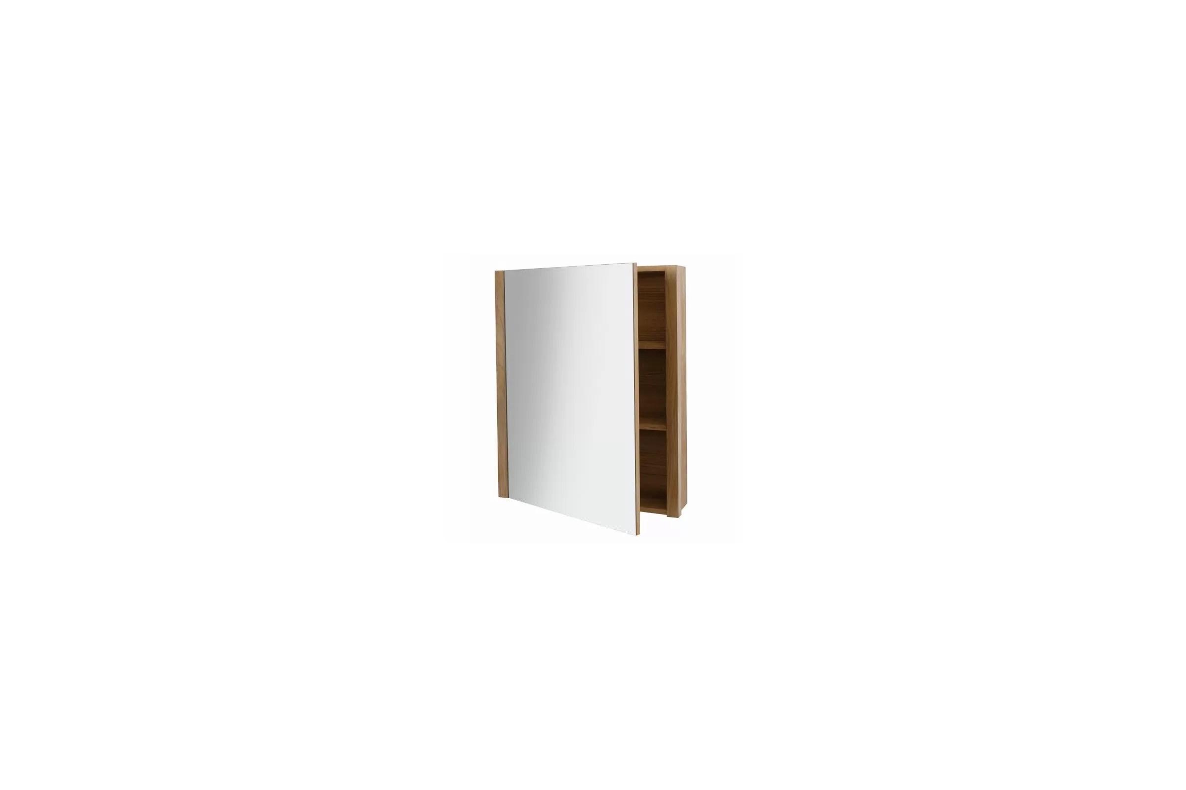 Armoire De Toilette Miroir En Teck Pour La Salle De Bain 65 Cm