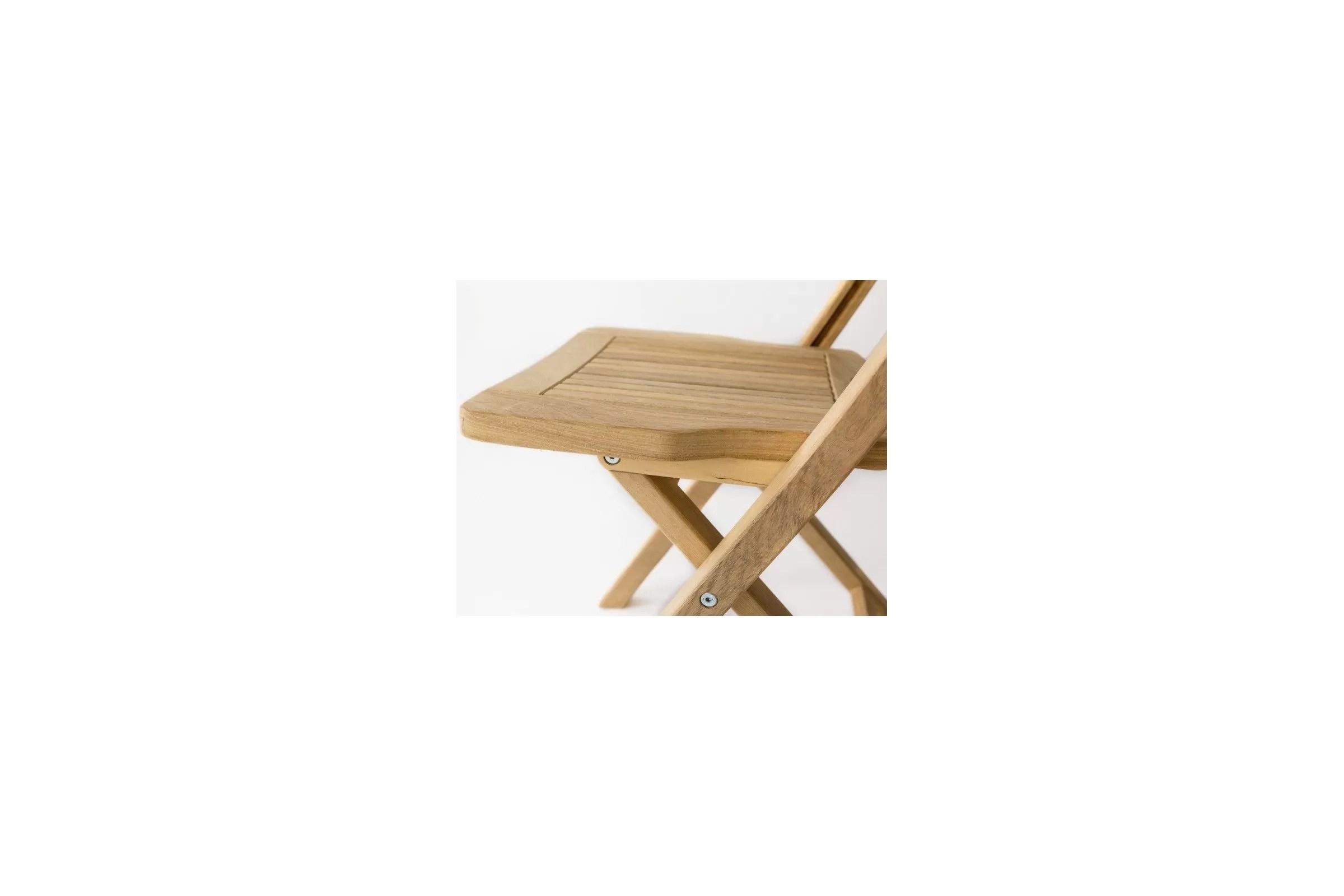 chaise de jardin pliante en bois de