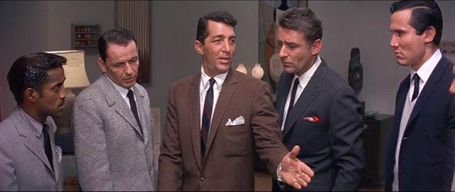 Sammy Davis Jr, Frank Sinatra et Dean Martin dans Oceans 11