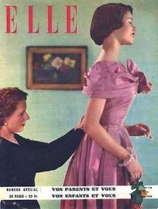 Brigitte Bardot couverture de Elle Magazine Mai 1949