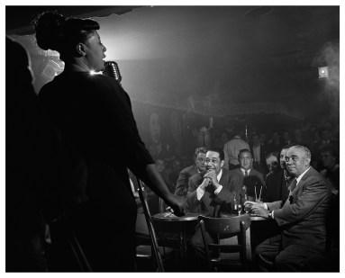 Ella Fitzgerald, Duke Ellington et Benny Goodman à New York en 1948 by Herman Leonard