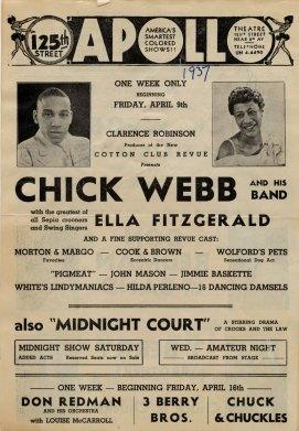 Affiche Apollo Theatre en 1937