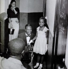 Nat King Cole, son épouse et sa fille Nathalie