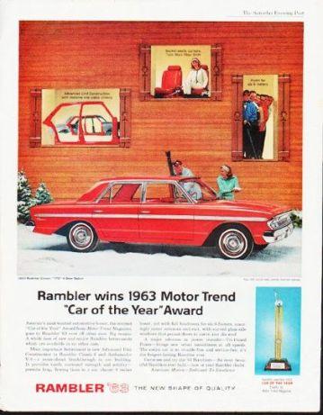 Publicité pour la Rambler de 1963 aux Etats-Unis