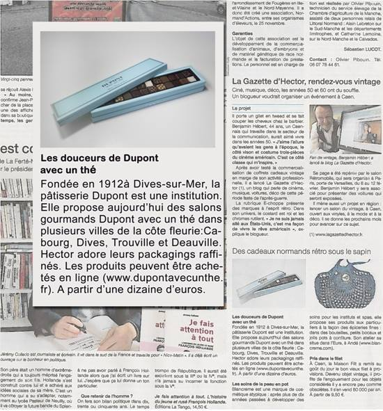 Article Ouest France la Gazette d'Hector