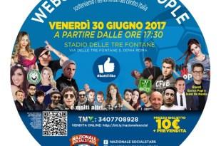 Nazionale SocialStars - Evento del 30 Giugno 2017