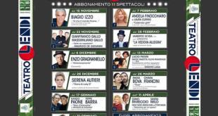 Teatro Lendi, stagione teatrale 2017/18