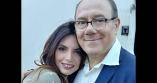 Carlo Verdone e Ilenia Pastorelli. Foto da pagina Facebook.