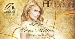 Paris Hilton per Africana Famous Club