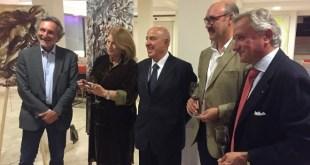 Elisabetta Rogai, Marco Ferretti, Enrico Mariani e Sergio Auricchio per arte vino e terracotta