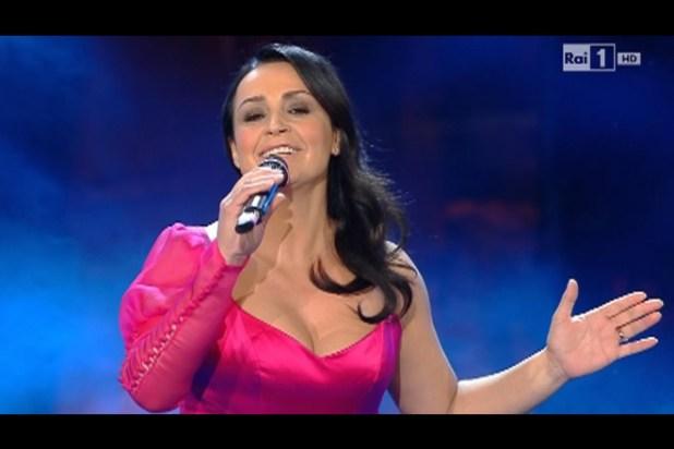 Maria Nazionale in un frame a Sanremo